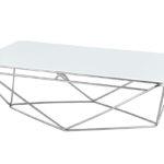 שולחן סלון דגם HF-FC068 (כסף+ לבן)SILVER