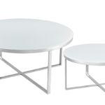 שולחן סלון דגם HF-YC25 (כסף+ לבן)SILVER