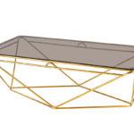 שולחן סלון דגם HF-FC068 (זהב+ חום)GOLD