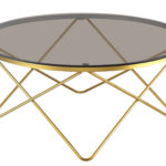 שולחן סלון דגם HF-YC28 (זהב+ חום)GOLD