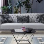 ספה ברצלונה תלת אפור בהיר V-25(רגל ניקל)