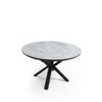 שולחן קתאי(CATHAY) אפור מט רגל שחור(MATT GREY)
