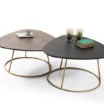 שולחן סלון גמייקה(JAMEIKA) ברונזה/שחור אלון