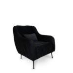 כורסא דגם SEVILLA צבע שחור קטיפה (910035)