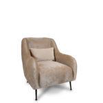 כורסא דגם SEVILLA צבע נס קפה קטיפה (911151)