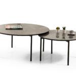 שולחן סלון דגם BIANCO קפוצינו מבריק רגל שחור