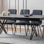 שולחן דגם CAMILA (קמילה) 200 אפור מבריק