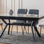 שולחן דגם MANGO160/100 אפור מבריק (מנגו) 40X50